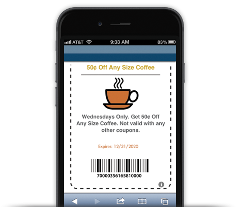 example of mobile coupon