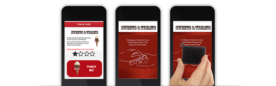 mobile loyalty punchcard process