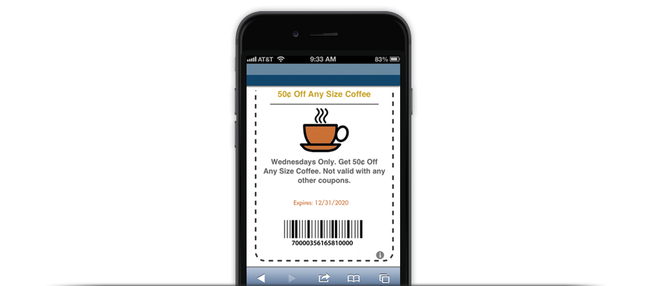 barcode mobile coupon redemption