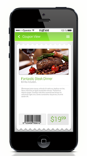 mobile app coupon