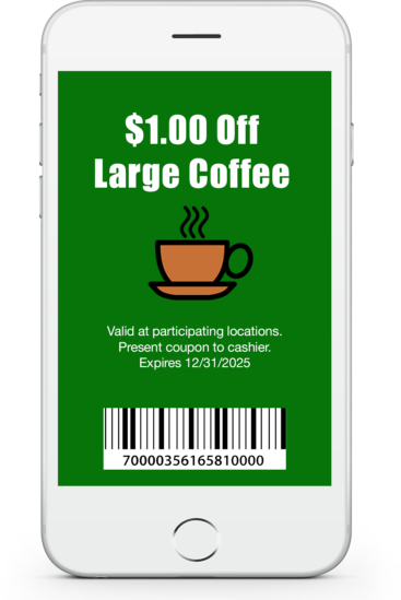 Contactless Mobile Coupon with Barcode