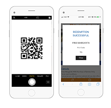 Contactless QR Code Mobile Coupon Redemption