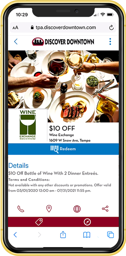 Contactless Mobile Website Coupon